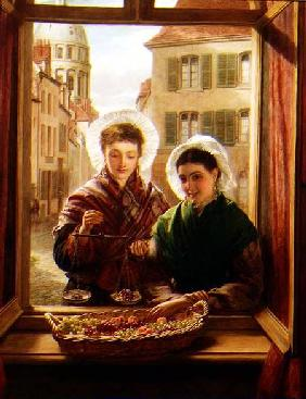 At my window, Boulogne 1872